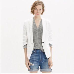 Madewell Linen Lightdune Textured Blazer